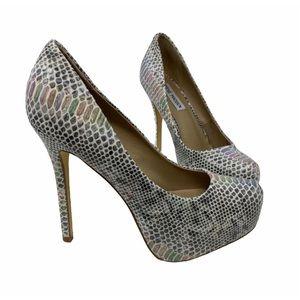 Steve Madden Nala Rainbow snake platform heels